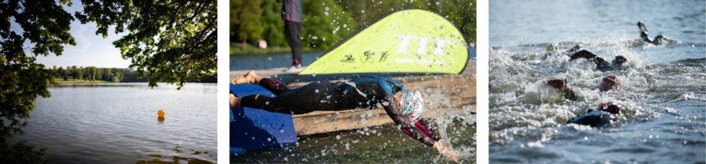 Hostivařský vytrvalec, plavecký závod v neoprenech a otužilecky i bez neoprenu je nv plavkách. Kompilace fotek ze závodu