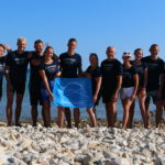 Společná fotka účastníků plaveckého kempu v Chorvatském Biogradu na Moru